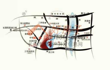 星语林·汀湘十里区位图