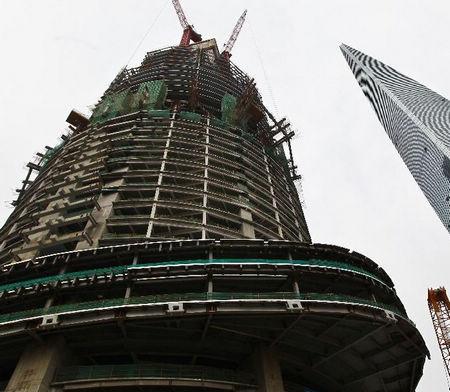 """""""上海中心""""的庞大地下结构工程"""