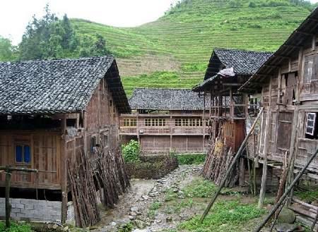 苗族房子风景图片