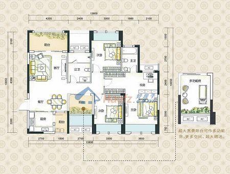 90平方房子平面設計圖
