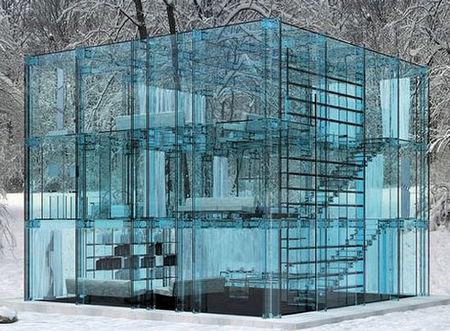 玻璃花房中的透明生活