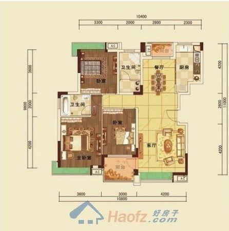 200平方朝南的房子平面設計圖