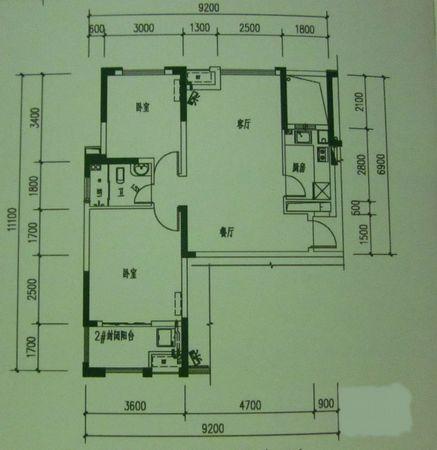 104平方米房子设计图