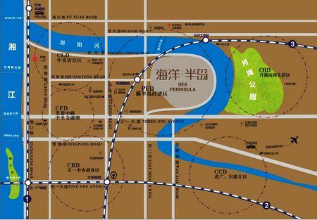 长沙立方海洋公园地图