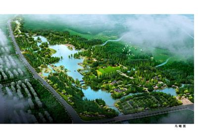 湿地公园二期鸟瞰图