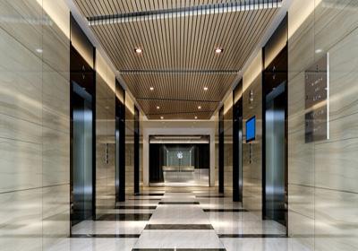 标准电梯间室内设计效果图)