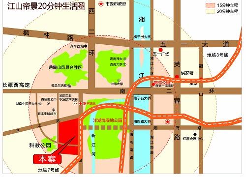 长沙河西大学城地图
