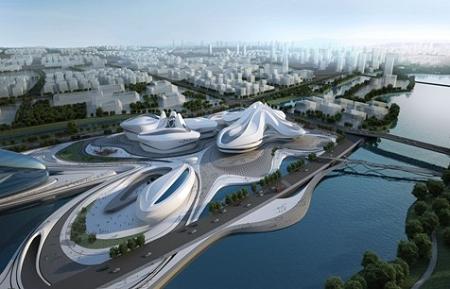 国际科研中心一期投入运营,国际文化艺术中心基坑围护工程竣工,节庆岛