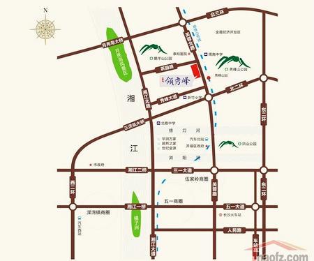 月亮岛街道最新地图