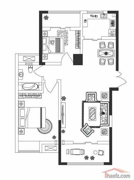 108平米房子平面圖