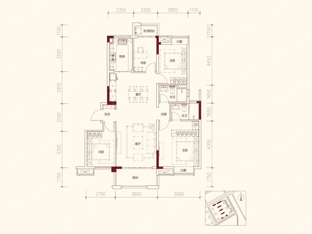 130140平方房子设计图展示图片
