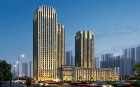 恒大国际广场,采用的简约欧式风格设计创造出一个融合建筑个性与城市
