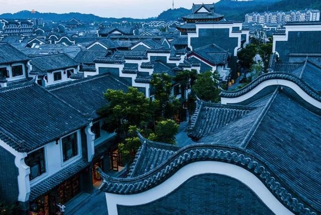 唐朝建筑夜晚手绘