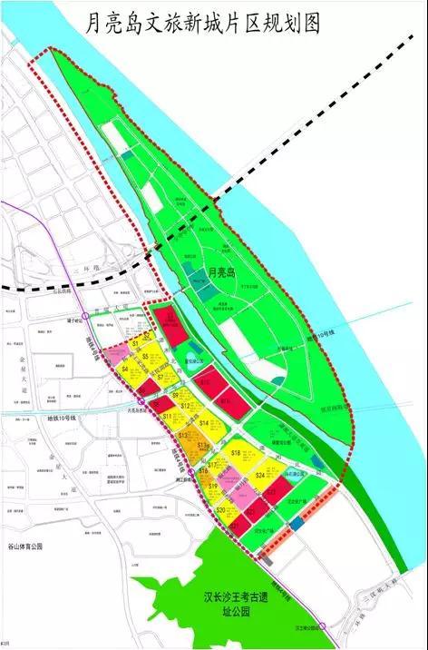 图|月亮岛文旅新城片区规划图
