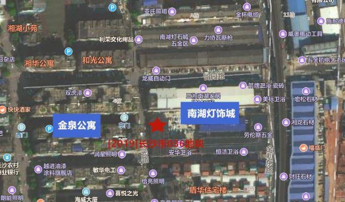 地图显示,[2019]长沙市036号地块位于马栏山视频文创产业园核心区